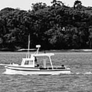 Boat And Tender At Coochiemudlo Island Art Print