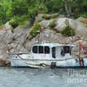 Boat Break Art Print