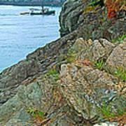 Boat By East Quoddy Bay On Campobello Island-nb Art Print