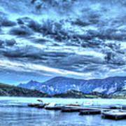 Boat Dock At Holter Lake Art Print