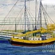 Boat Dock At Kenosha Wisconsin Harbor Art Print