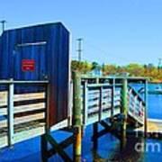Boat Dock In Rhode Island Art Print