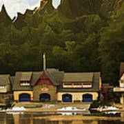 Boat House Row Art Print