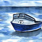Boat In Grand Cayman Art Print
