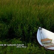 Boat In The Marsh Art Print