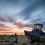 Boat Long Exposure Sunset Print by Matthew Gibson