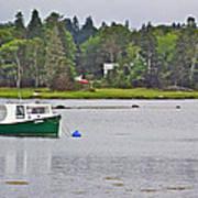 Boat On Cove In Glen Margaret-ns  Art Print