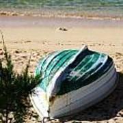 Boat On Devonshire Bay Beach Art Print