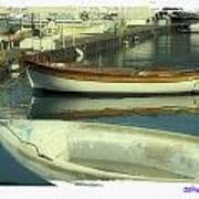 Boat Pier Art Print
