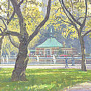 Boat Pond, Central Park Oil On Canvas Art Print
