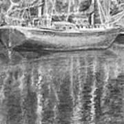 Boat Reflection Art Print