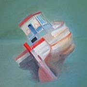 Boat Retired  Tavira Art Print