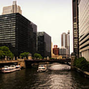 Boat Ride On The Chicago River Art Print
