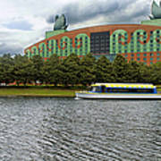 Boat Ride Past The Swan Resort Walt Disney World Art Print