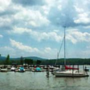 Boat - Sailboat At Dock Cold Springs Ny Art Print