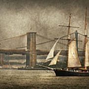 Boat - Sailing - Govenors Island Ny - Clipper City Art Print