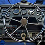 Boat Steering Wheel Art Print