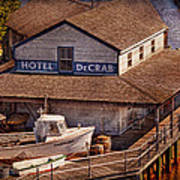 Boat - Tuckerton Seaport - Hotel Decrab  Art Print by Mike Savad