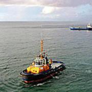 Boat - Tugboat Barbados II Art Print