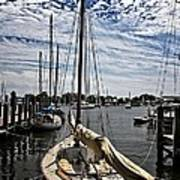Boat Under The Clouds Art Print