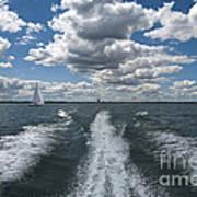 Boat Wake 01 Art Print