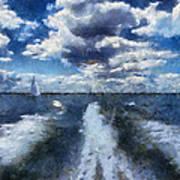 Boat Wake Photo Art 02 Art Print