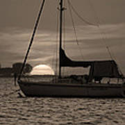 Boater's Sunset Art Print