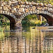 Boaters Under The Bridge Art Print