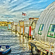 Boathouse Alley Art Print