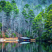 Boathouse On Pinnacle Lake Art Print