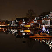 Boathouse Row All Lit Up Art Print by Bill Cannon