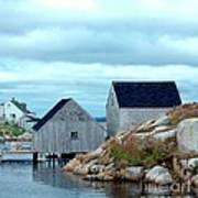 Boathouses Art Print