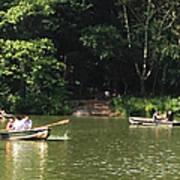Boating In Central Park Art Print