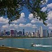 Boating In Chicago  Art Print