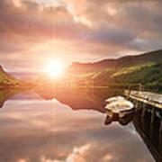 Boating Lake Sunrise Art Print