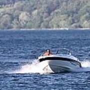 Boating On Grand Traverse Bay Art Print
