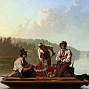 Boatmen On The Missouri Art Print