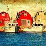 Boats And Boat Houses Pei Photograph  Art Print by Laura Carter
