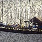 Boats And Bubbles 2 Art Print