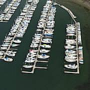 Boats And Docks At Cap Sante Marina Art Print