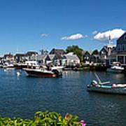 Boats At A Harbor, Nantucket Art Print
