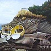 Boats At Berry Point Art Print