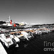 Boats At Brindisi Art Print