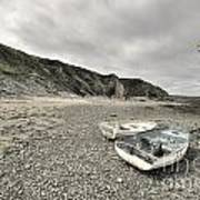 Boats At Bude  Art Print