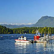 Boats At Dock In Tofino Art Print