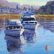 Boats At Merimbula Australia  Art Print