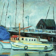 Boats At Provincetown Ma Art Print