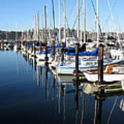 Boats At Rest. Sausalito. California. Art Print