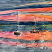 Boats At Skaneateles Lake Ny Art Print