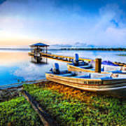 Boats At The Lake Art Print
